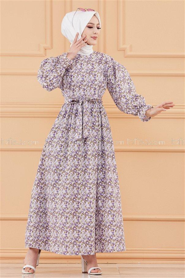 Patterned Dress PURPLE- 20107