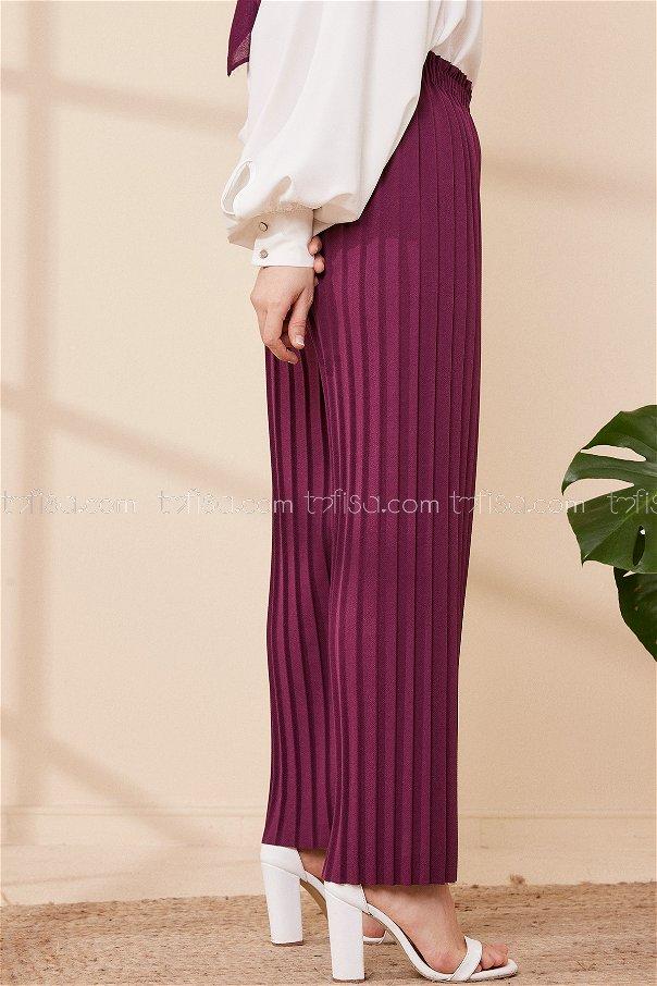 Pılıselı Pantolon Murdum - 8705