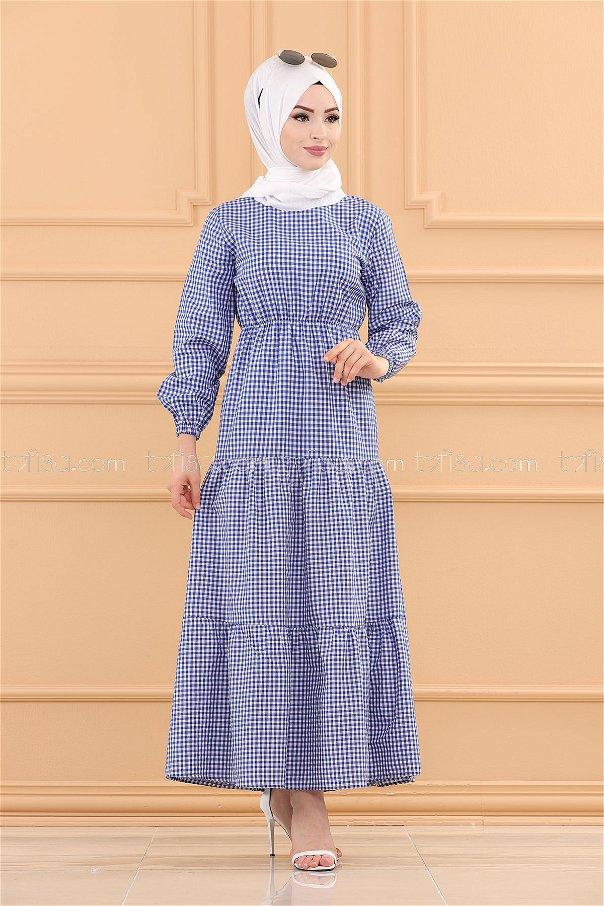 Plaid Dress SAKS - 3731