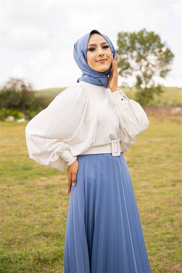 Pleated Skirt Baby Blue - 3219