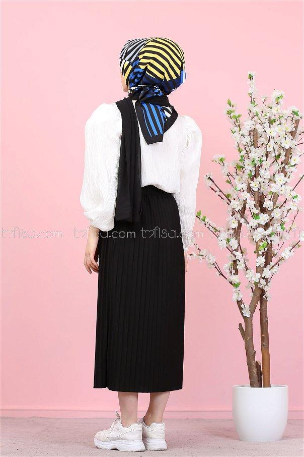 Pleated Skirt Black - 3102