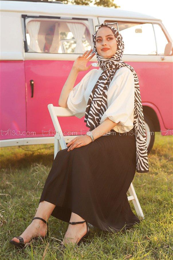 Pleated Skirt Black - 3219
