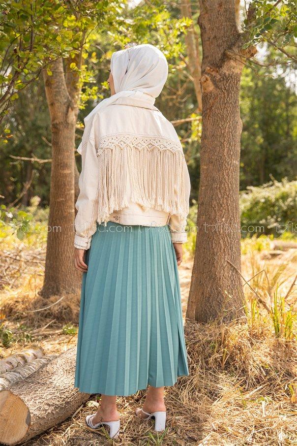 Pleated Skirt Mint - 3219