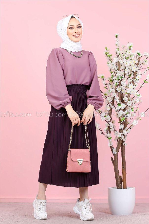 Pleated Skirt Purple - 3102