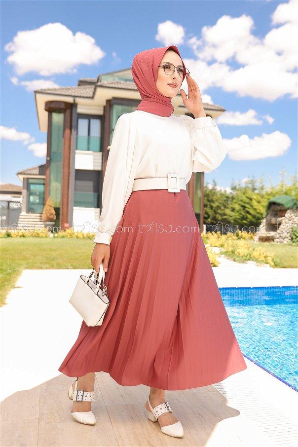 Pleated Skirt Rose - 3219
