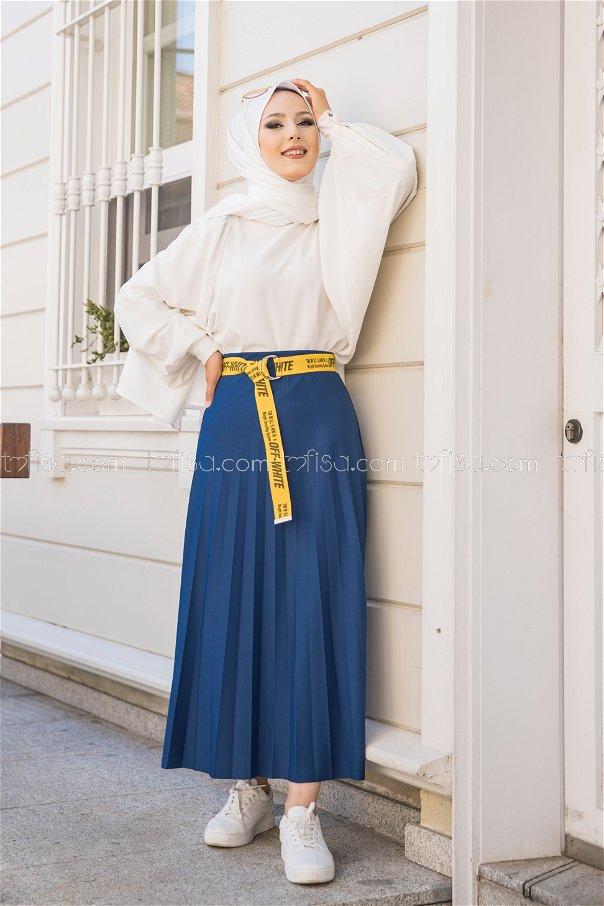 Pleated Skirt Sax - 3219