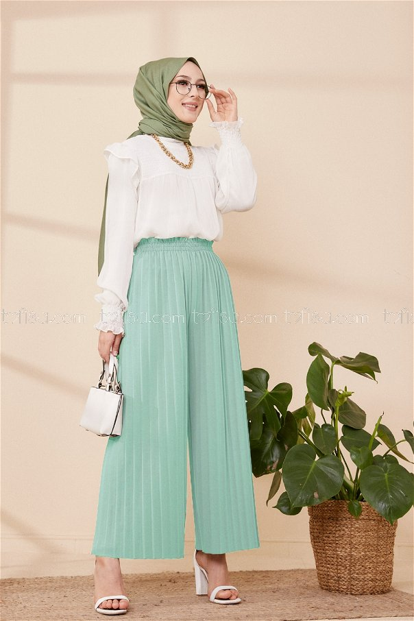 Pleated Trousers Mint - 3520
