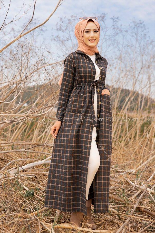Pocket Dress Anthracite Tan - 3301