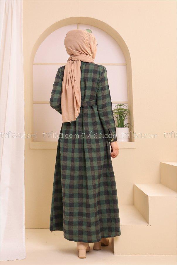 Pocket Dress Black Emerald - 3301