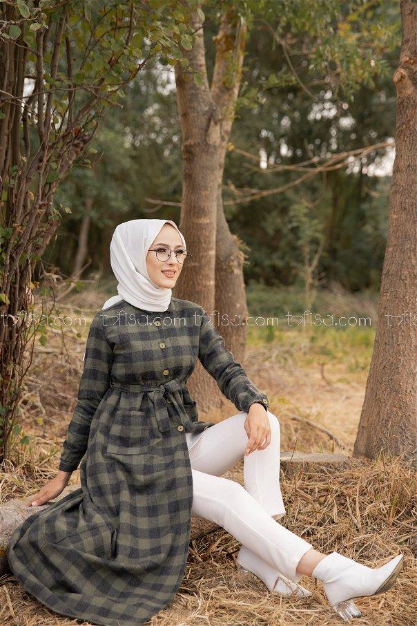 Pocket Dress Khaki - 3301