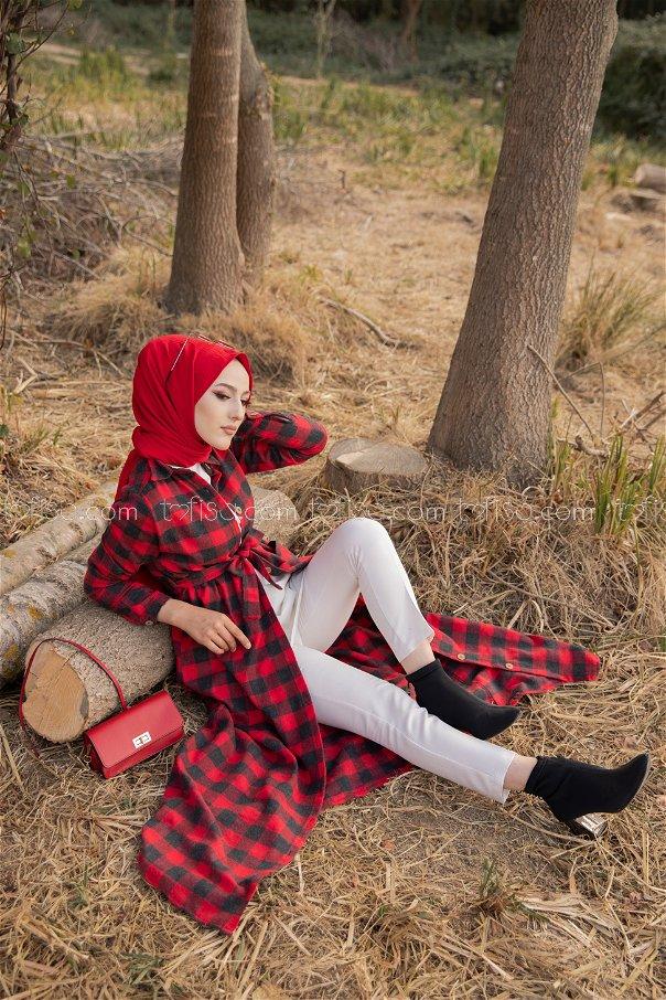 Pocket Dress Red - 3301