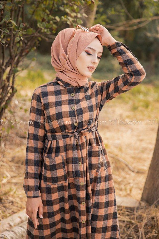 Pocket Dress Tan - 3301