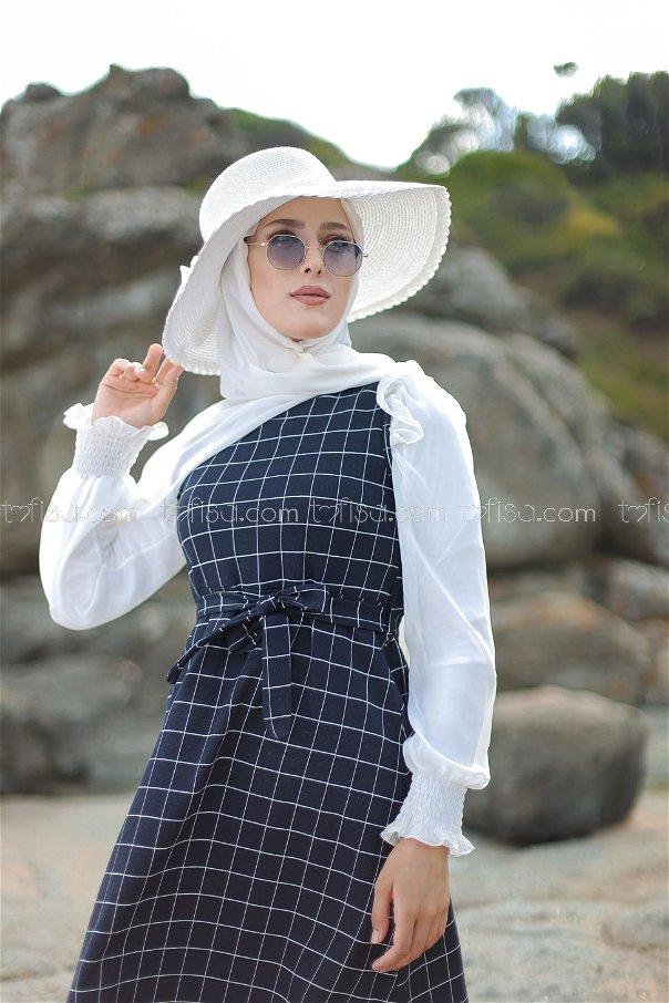Elbise Lacivert - 3229