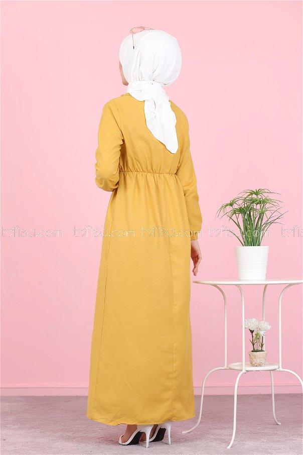 Elbise Sarı - 8369