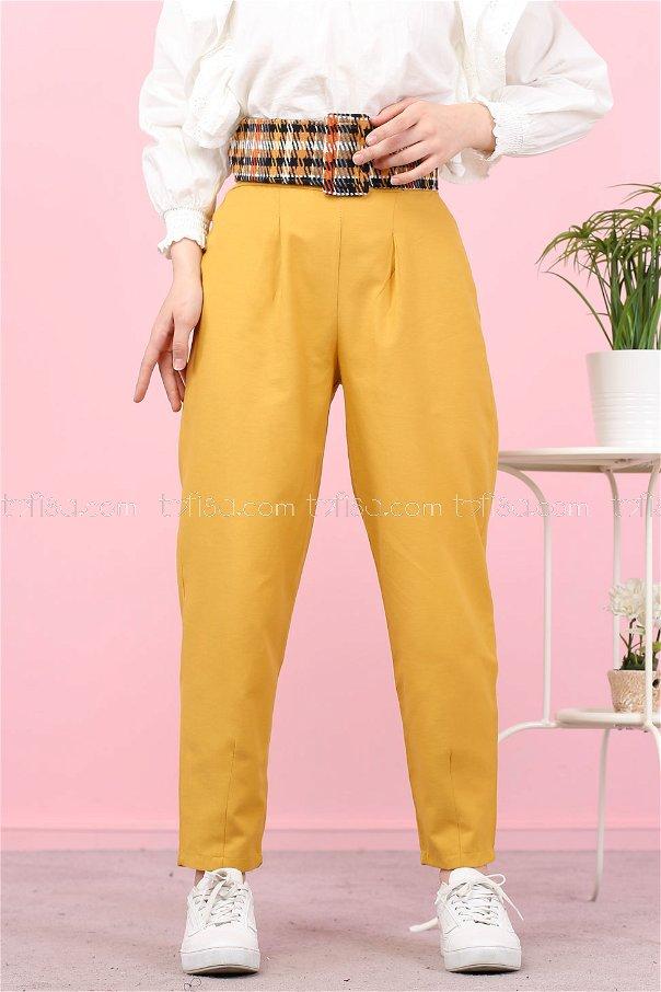 Pantolon Sarı - 8441