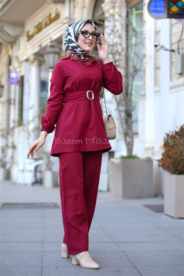 Tunik Pantolon Bordo - 1366