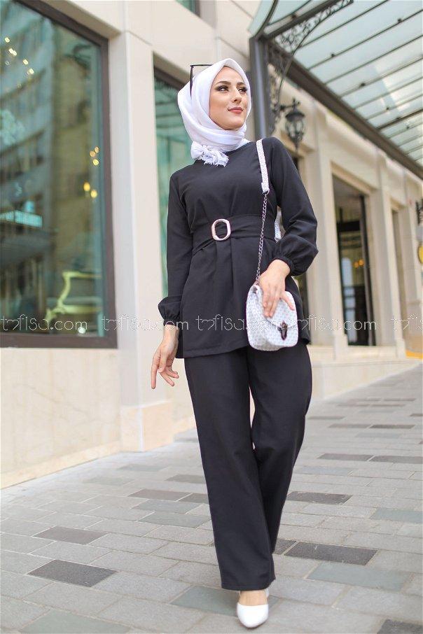 Tunik Pantolon Siyah - 1366
