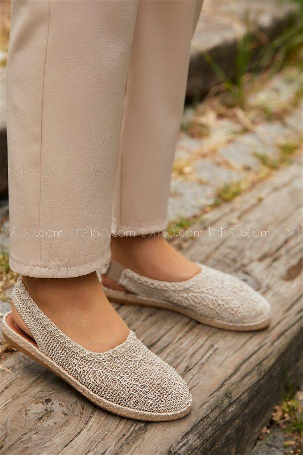 Sandalet KREM - 20400