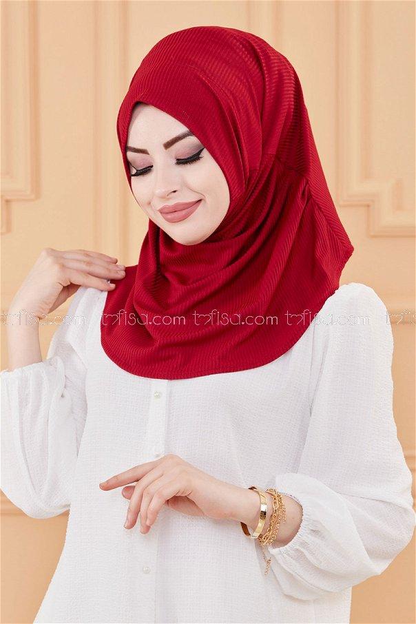 Shawl Claret Red - 30001