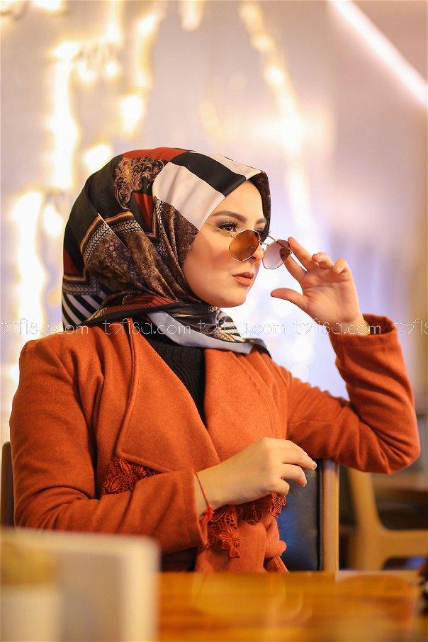 shawl Desenli black - 8277