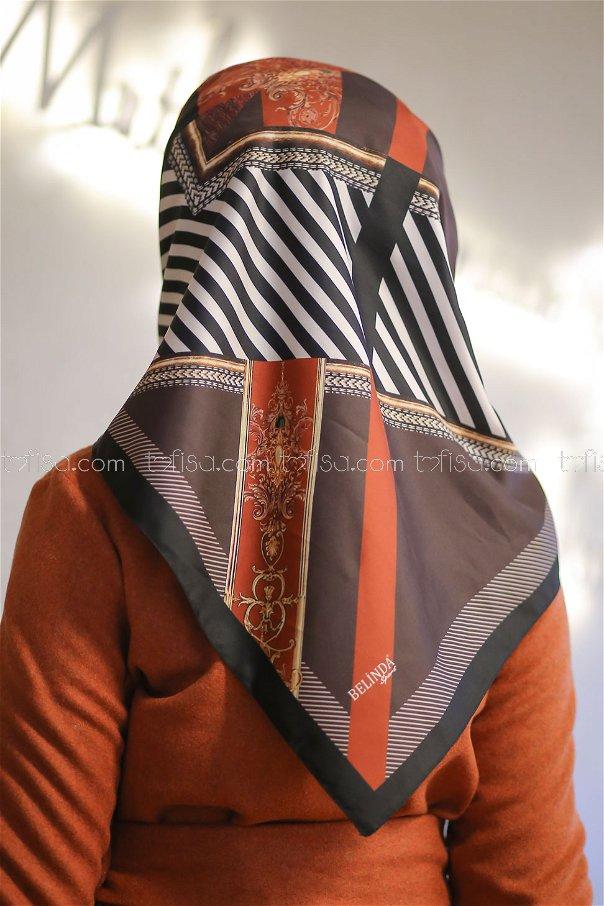 shawl Desenli brouwn - 8277