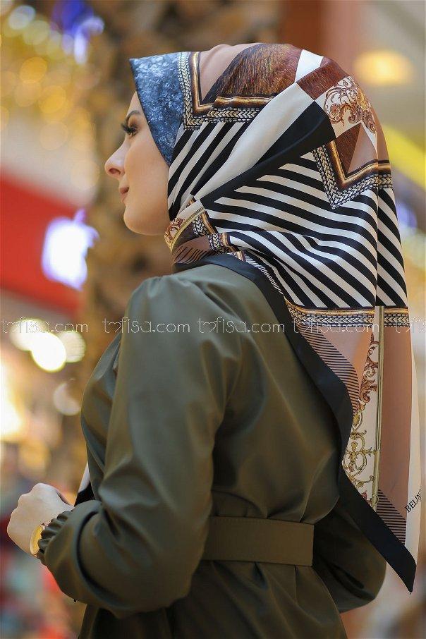 shawl Desenli Camel - 8277