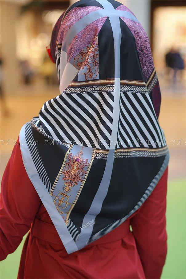 shawl Desenli gray - 8277