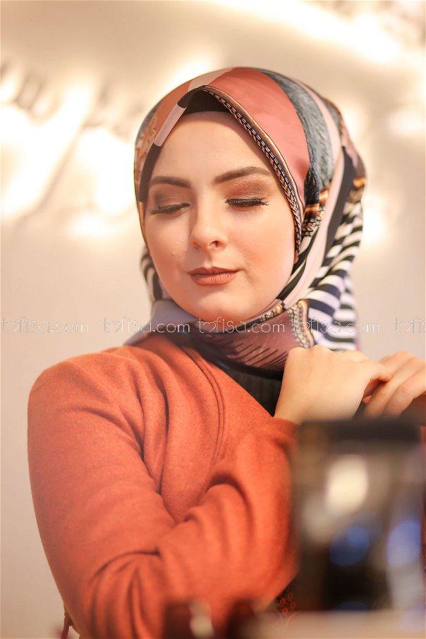 shawl Desenli Powder - 8277