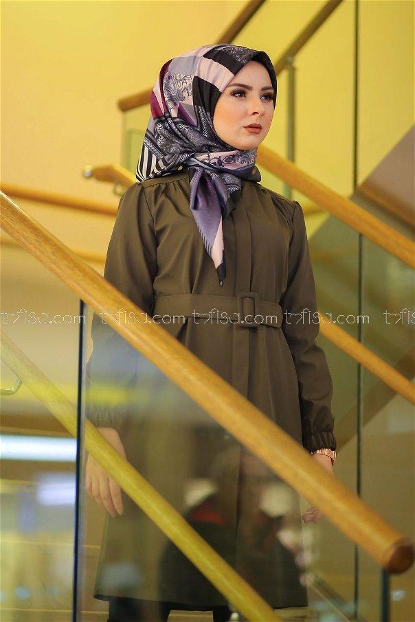 shawl Desenli Purple - 8277