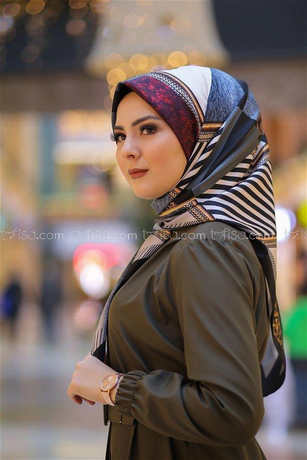 shawl Desenli Smoked - 8277