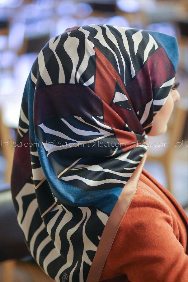 shawl patterned Camel - 8276
