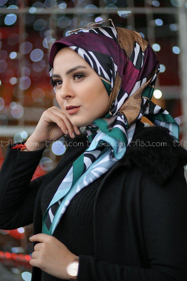 shawl patterned Emerald - 8276