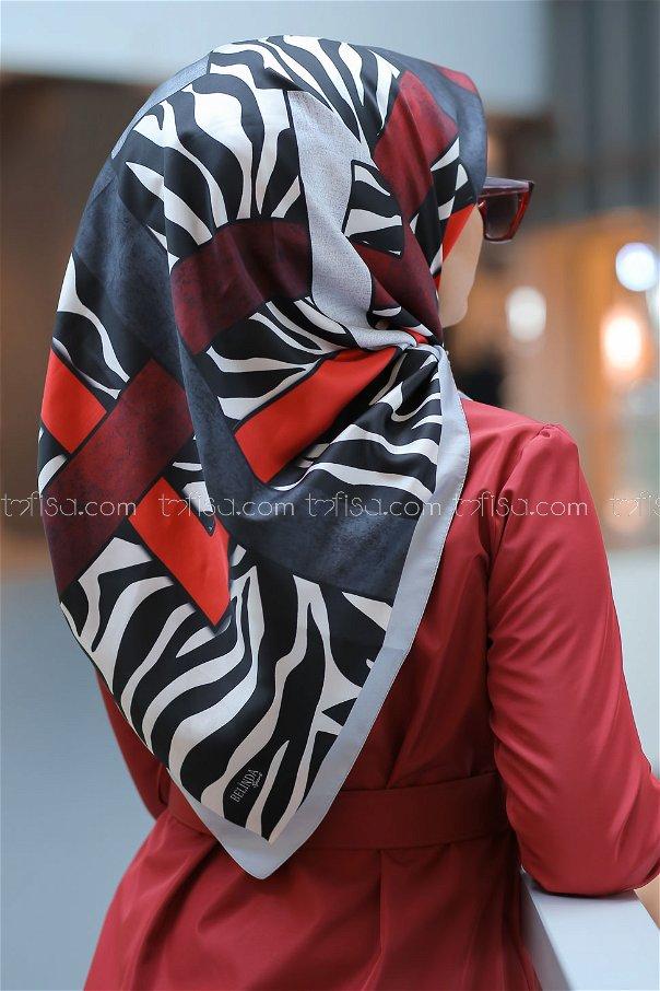 shawl patterned gray - 8276