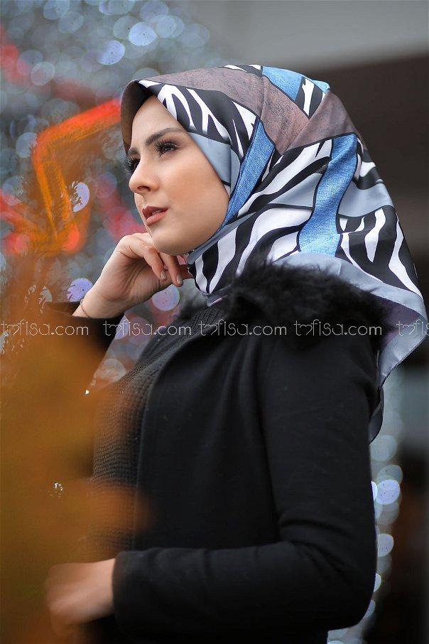 shawl patterned Smoked - 8276