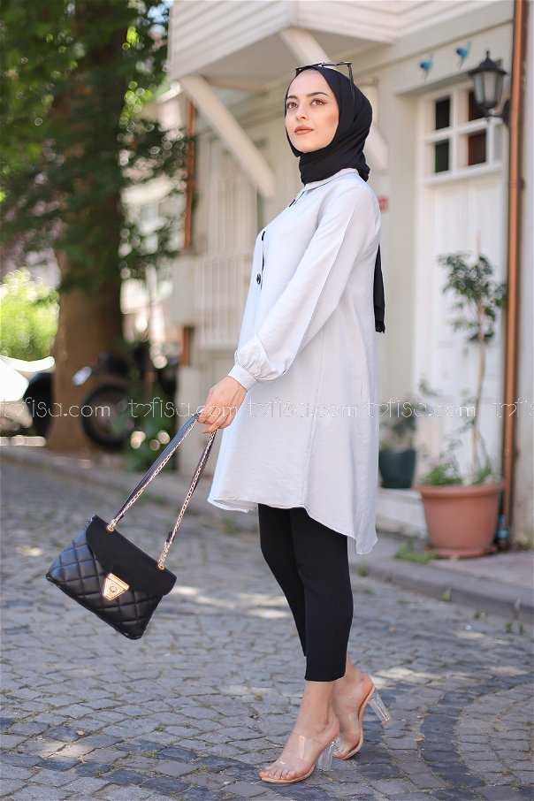 Shirt Light Grey - 3042