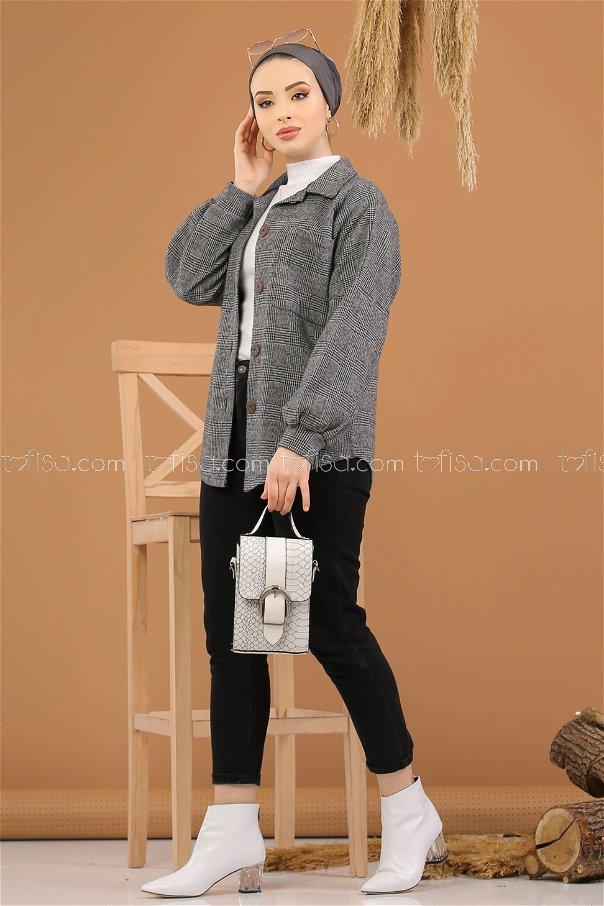Shirt Squares gray - 5228