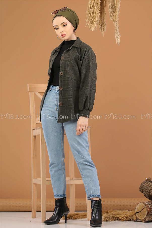 Shirt Squares khaki - 5228