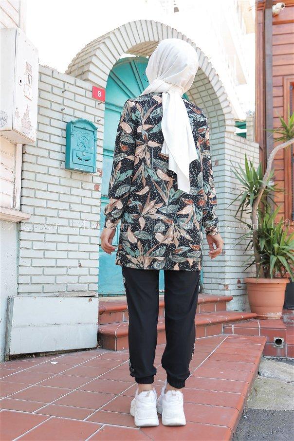 Shirt Tight Black Mint - 3074