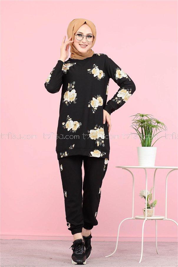 Shirt Tight Black Mustard - 3074