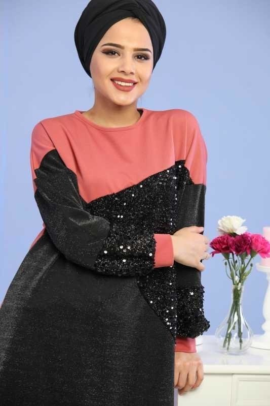 Silvery Sequin Tunic Rose Dry - 02 6682
