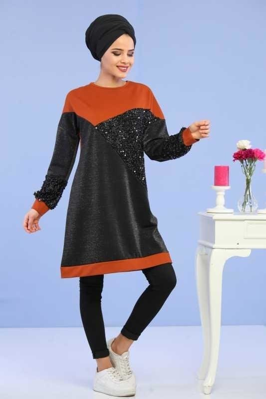 Silvery Sequin Tunic Tile - 02 6682