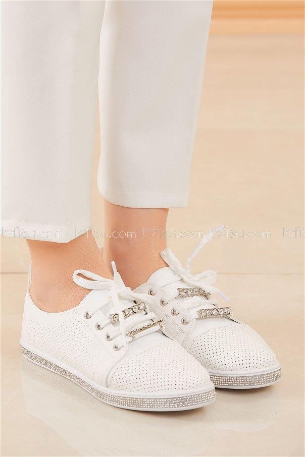 Sımlı Ayakkabı BEYAZ - 20578