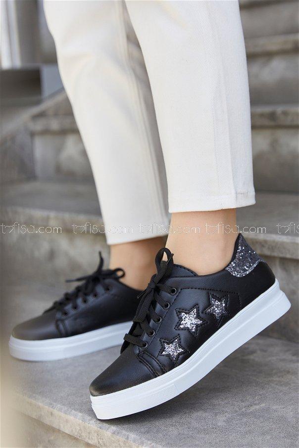 Sımlı Ayakkabı SİYAH GRİ - 20148