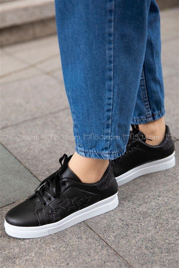 Sımlı Ayakkabı SIYAH SIYAH - 20148