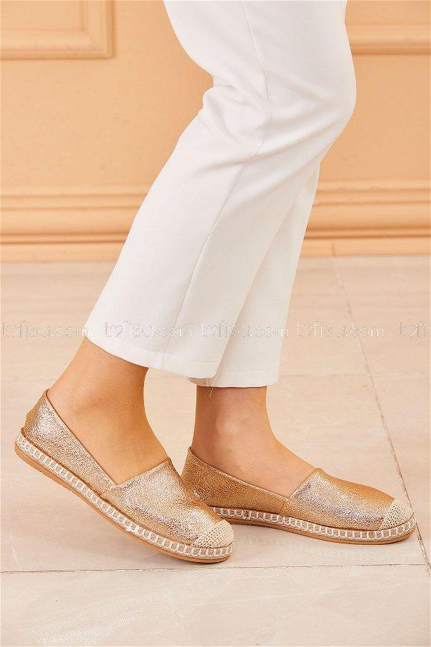 Sımlı Babet Ayakkabı GOLD - 20413