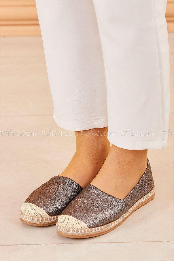 Sımlı Babet Ayakkabı GRI - 20413