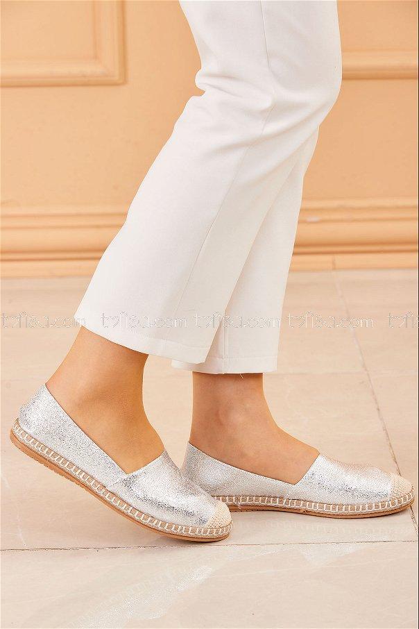Sımlı Babet Ayakkabı GUMUS - 20413
