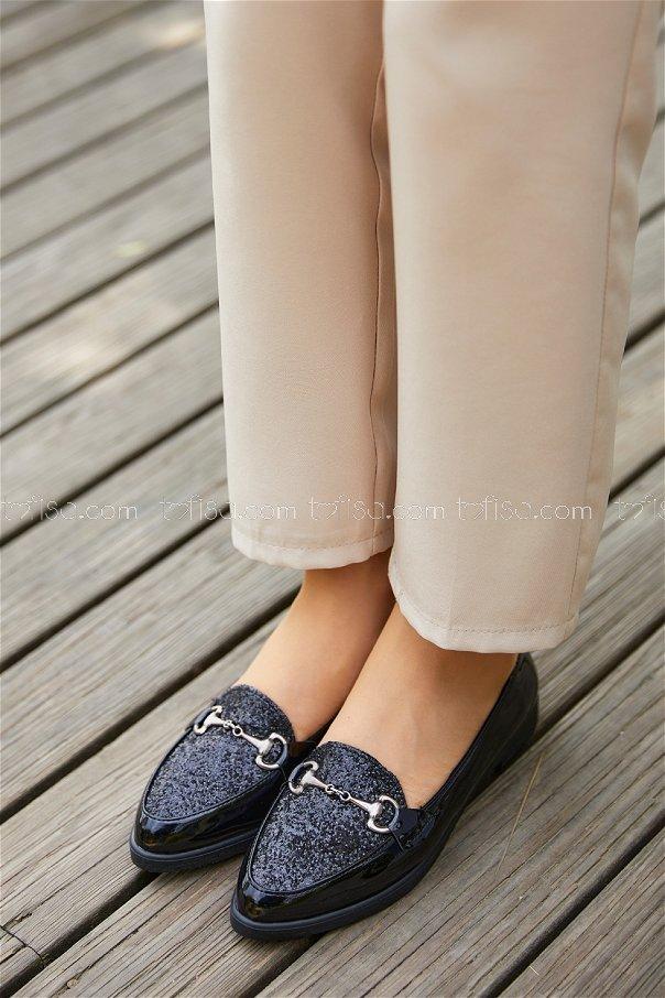 Sımlı Babet Ayakkabı PARLAK SIYAH - 20397