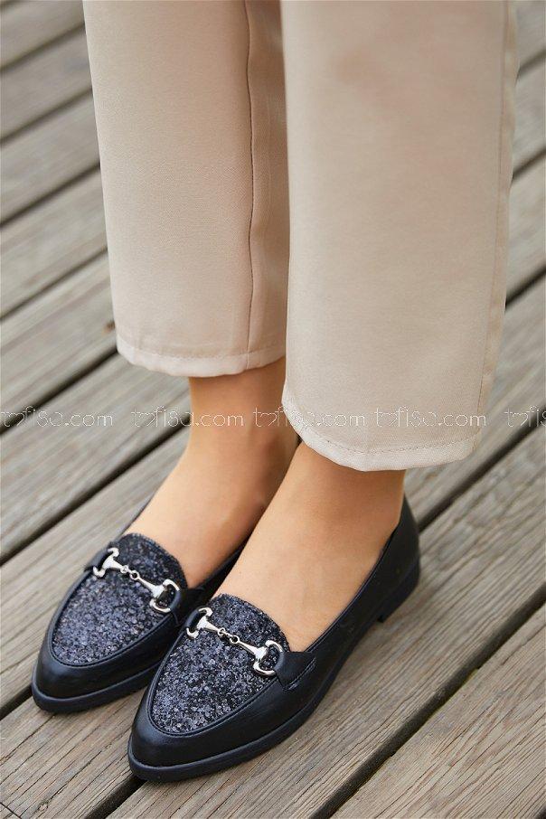 Sımlı Babet Ayakkabı SIYAH - 20397