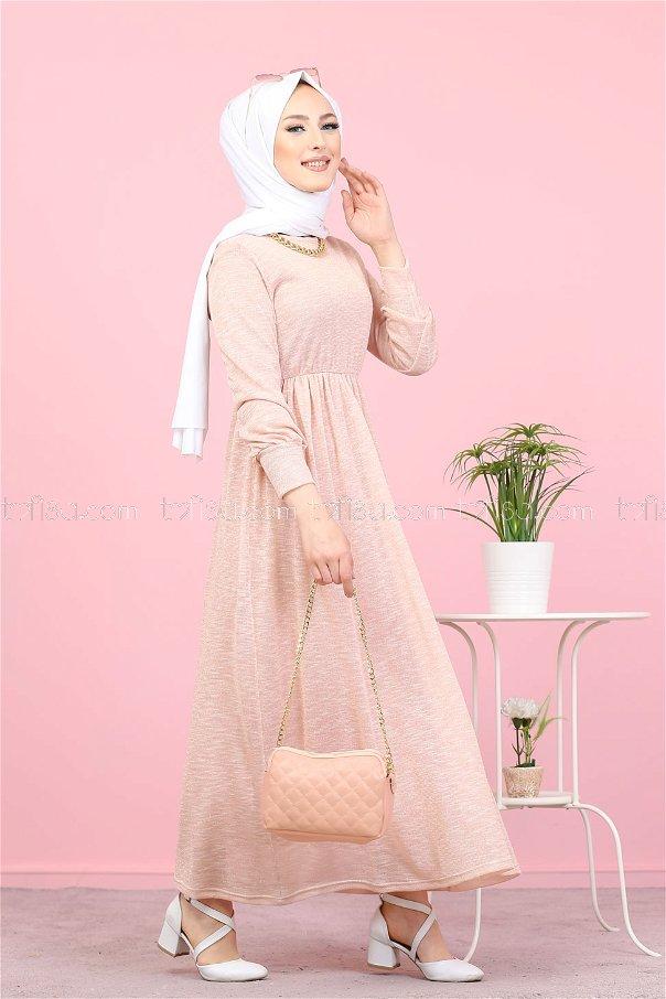 Simli Elbise Pudra - 8390